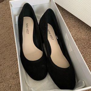 Nine West black suede Kimbelo heels